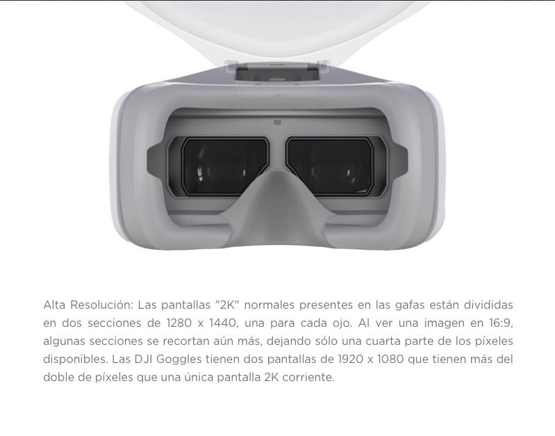 lentes VR dji gafas goggles dji